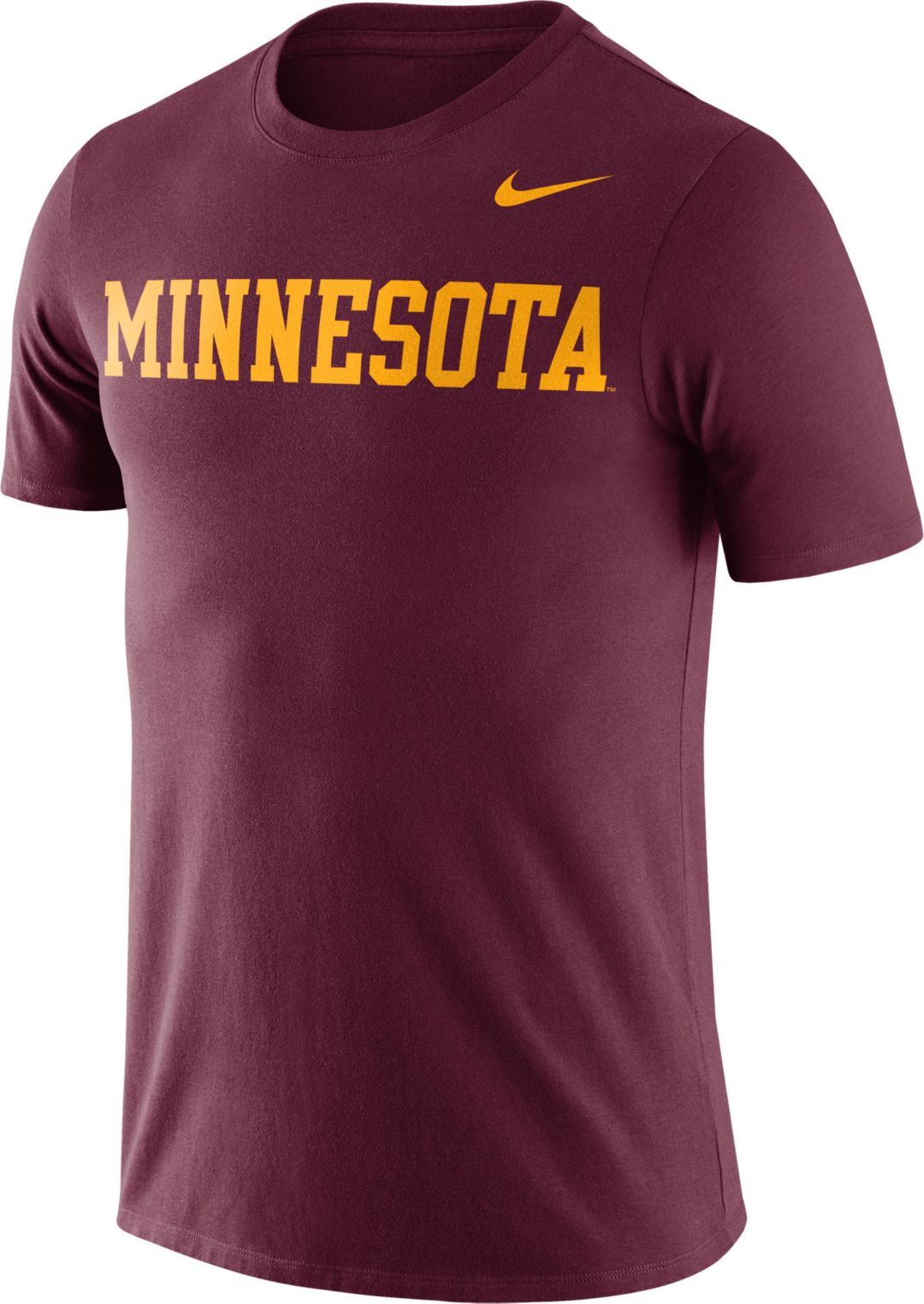 separation shoes 71552 7e51f Nike Men's Minnesota Golden Gophers Maroon Dri-FIT Cotton Word T-Shirt