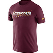 Nike Men's Minnesota Golden Gophers Maroon Football Dri-FIT Cotton Facility T-Shirt