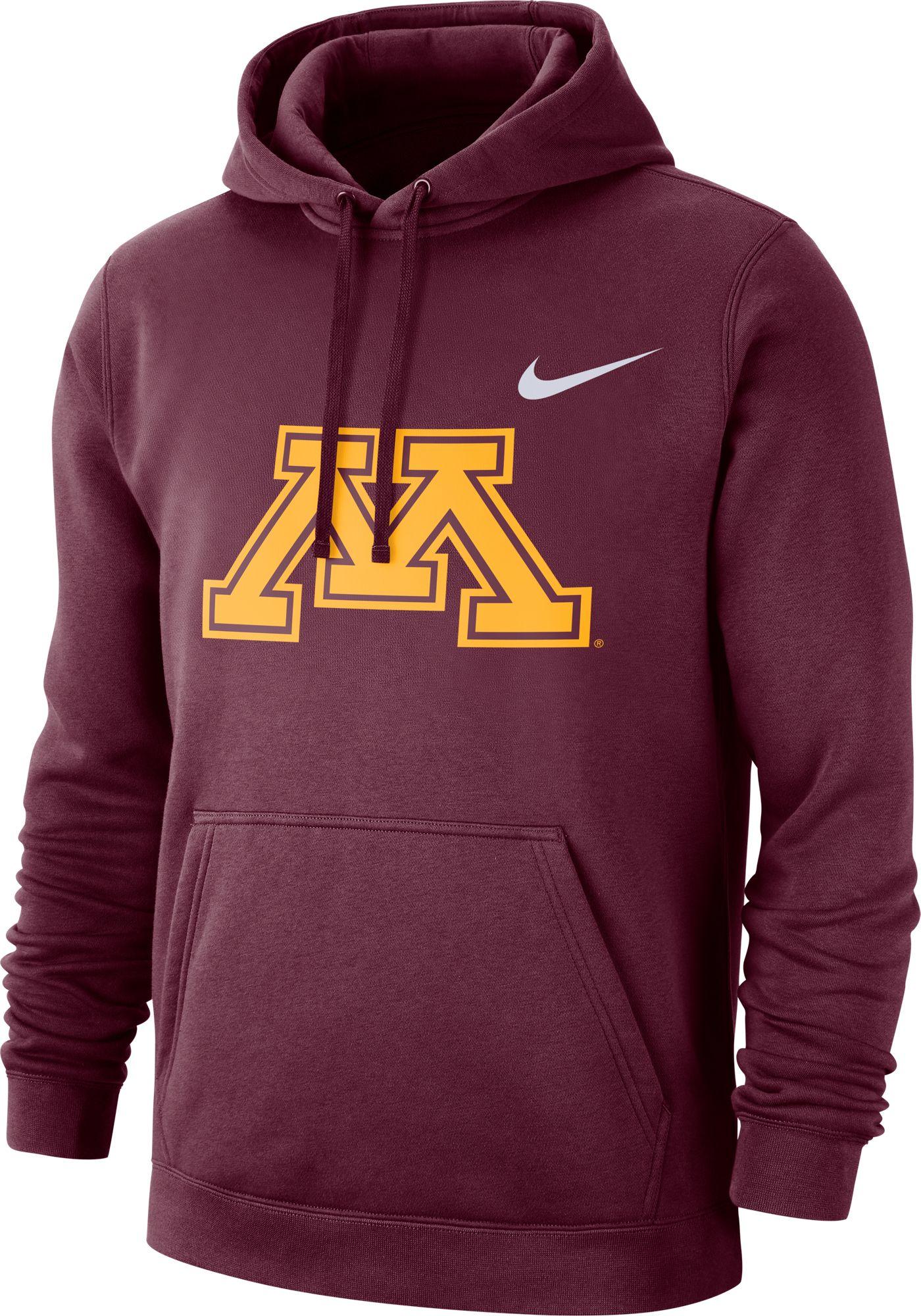 Nike Men's Minnesota Golden Gophers Maroon Club Fleece Pullover Hoodie