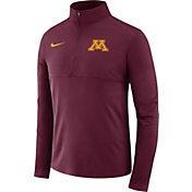 Nike Men's Minnesota Golden Gophers Maroon Long Sleeve Core Half-Zip Shirt