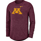 Nike Men's Minnesota Golden Gophers Maroon Marled Raglan Long Sleeve T-Shirt