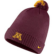 Nike Men's Minnesota Golden Gophers Maroon Football Sideline Pom Beanie