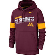 Nike Men's Minnesota Golden Gophers Maroon Therma Football Sideline Pullover Hoodie