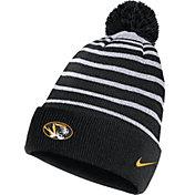 Nike Men's Missouri Tigers Football Sideline Cuffed Pom Black Beanie