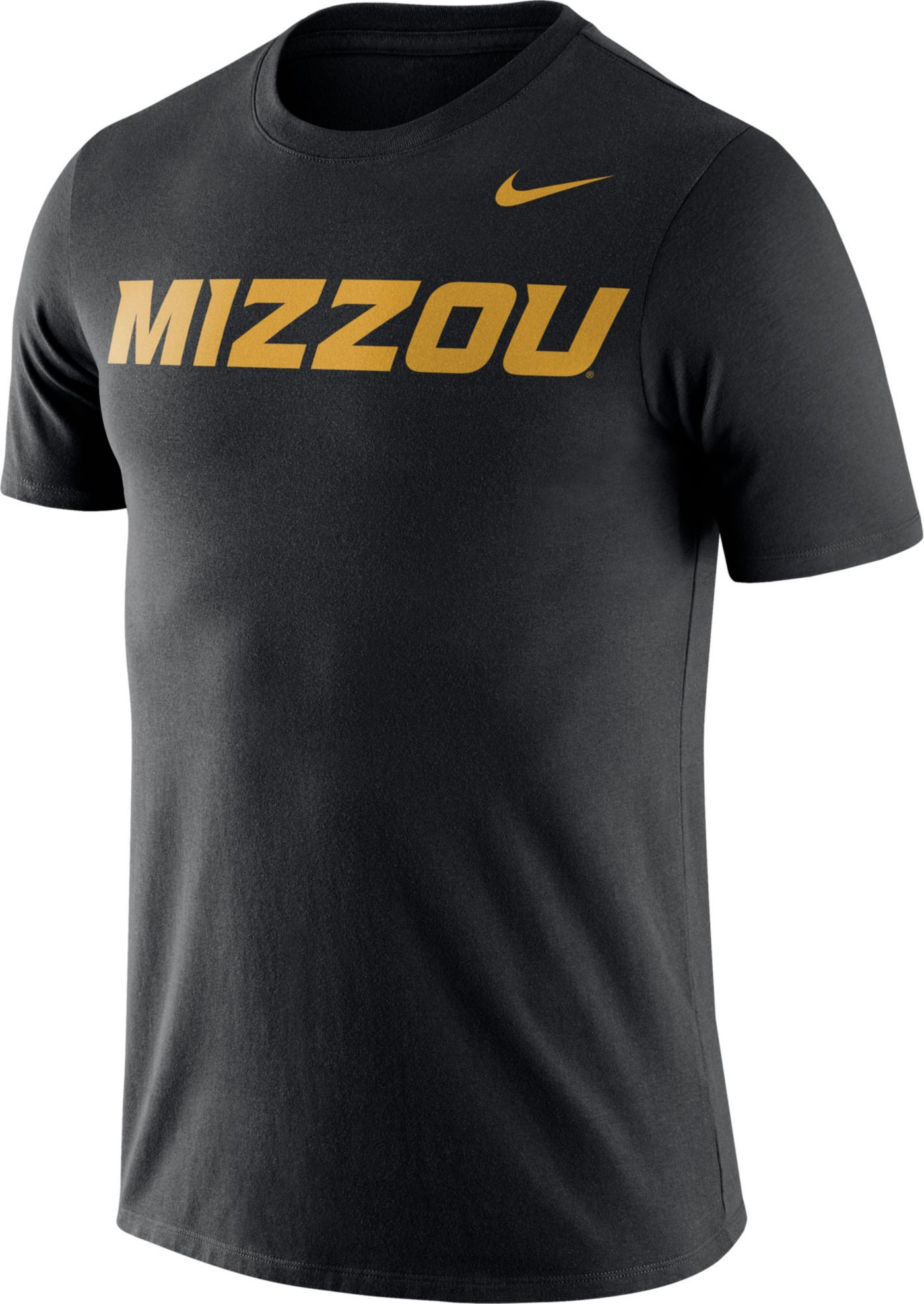 Nike Men's Missouri Tigers Dri-FIT Cotton Word Black T-Shirt
