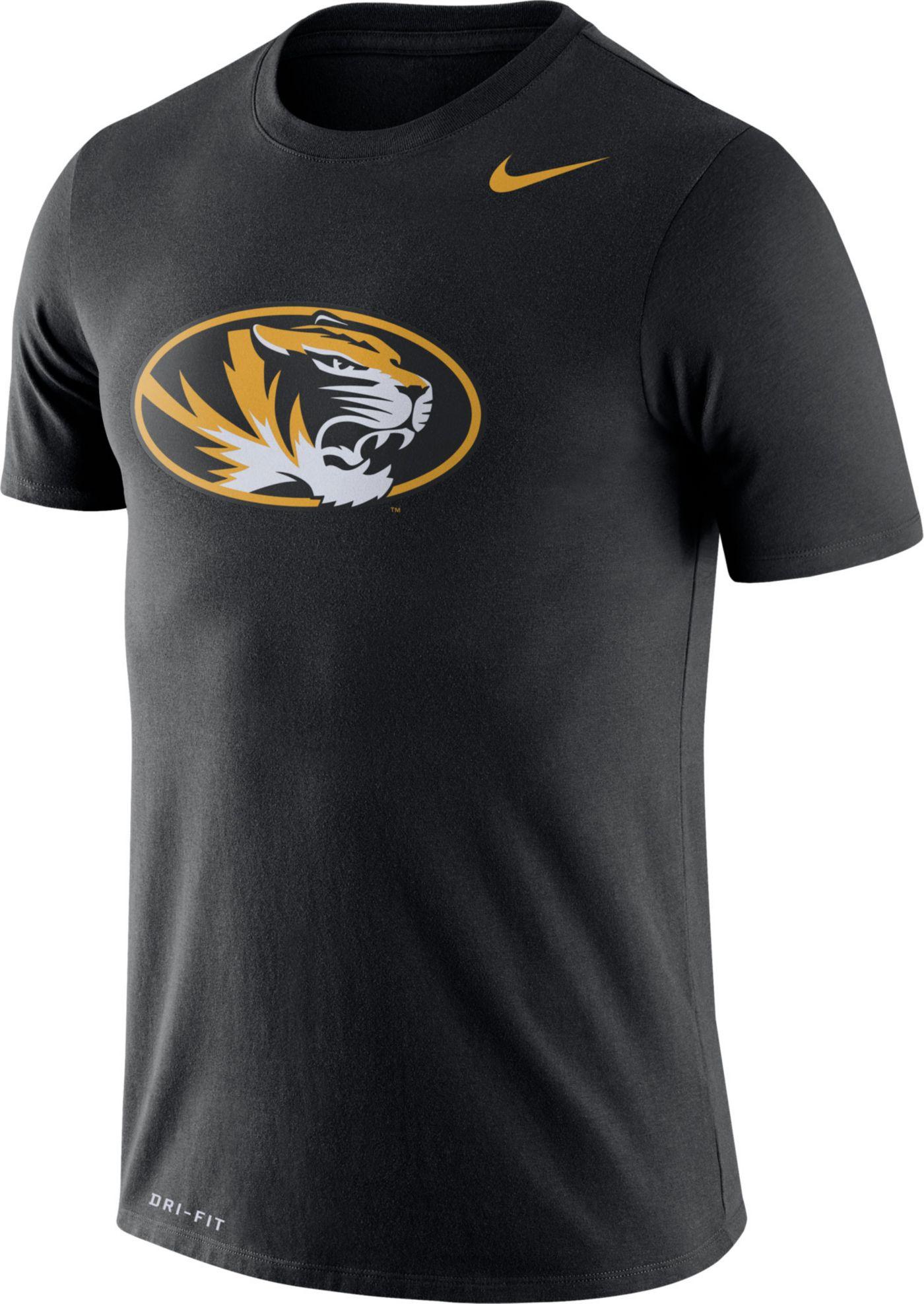 Nike Men's Missouri Tigers Logo Dry Legend Black T-Shirt