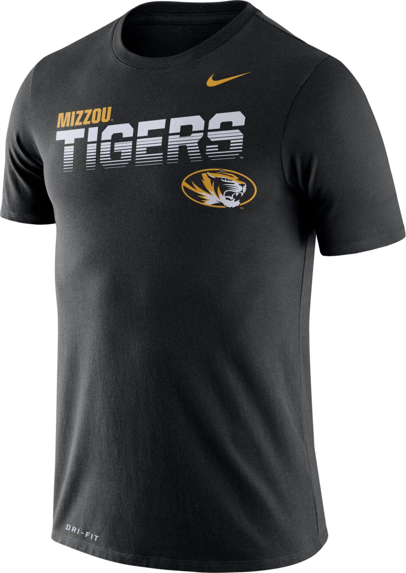 Nike Men's Missouri Tigers Legend Football Sideline Black T-Shirt