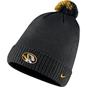 Nike Men's Missouri Tigers Football Sideline Pom Black Beanie