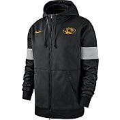 Nike Men's Missouri Tigers Therma Football Sideline Full-Zip Black Hoodie