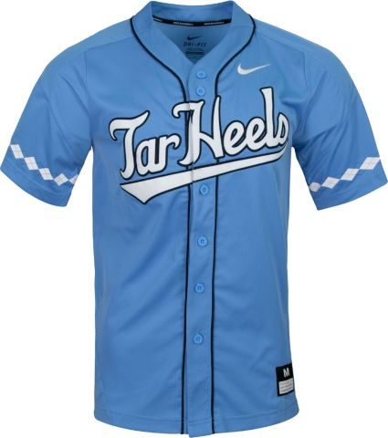 2f1e05a193a6 Nike Men s North Carolina Tar Heels Carolina Blue Dri-FIT Replica Baseball  Jersey
