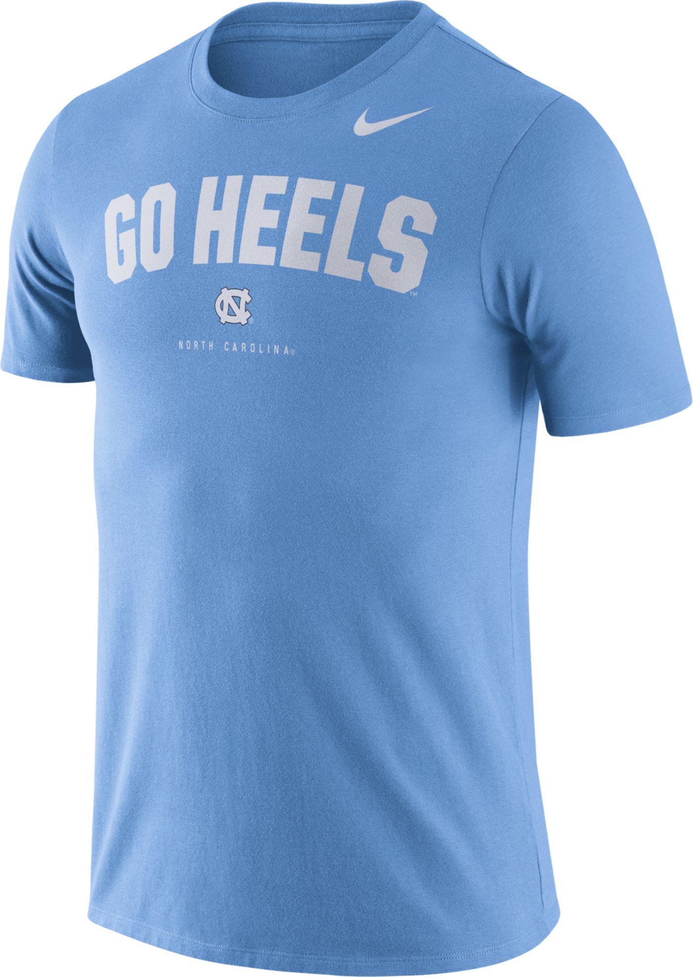 Nike Men's North Carolina Tar Heels Carolina Blue Dri-FIT Phrase T-Shirt