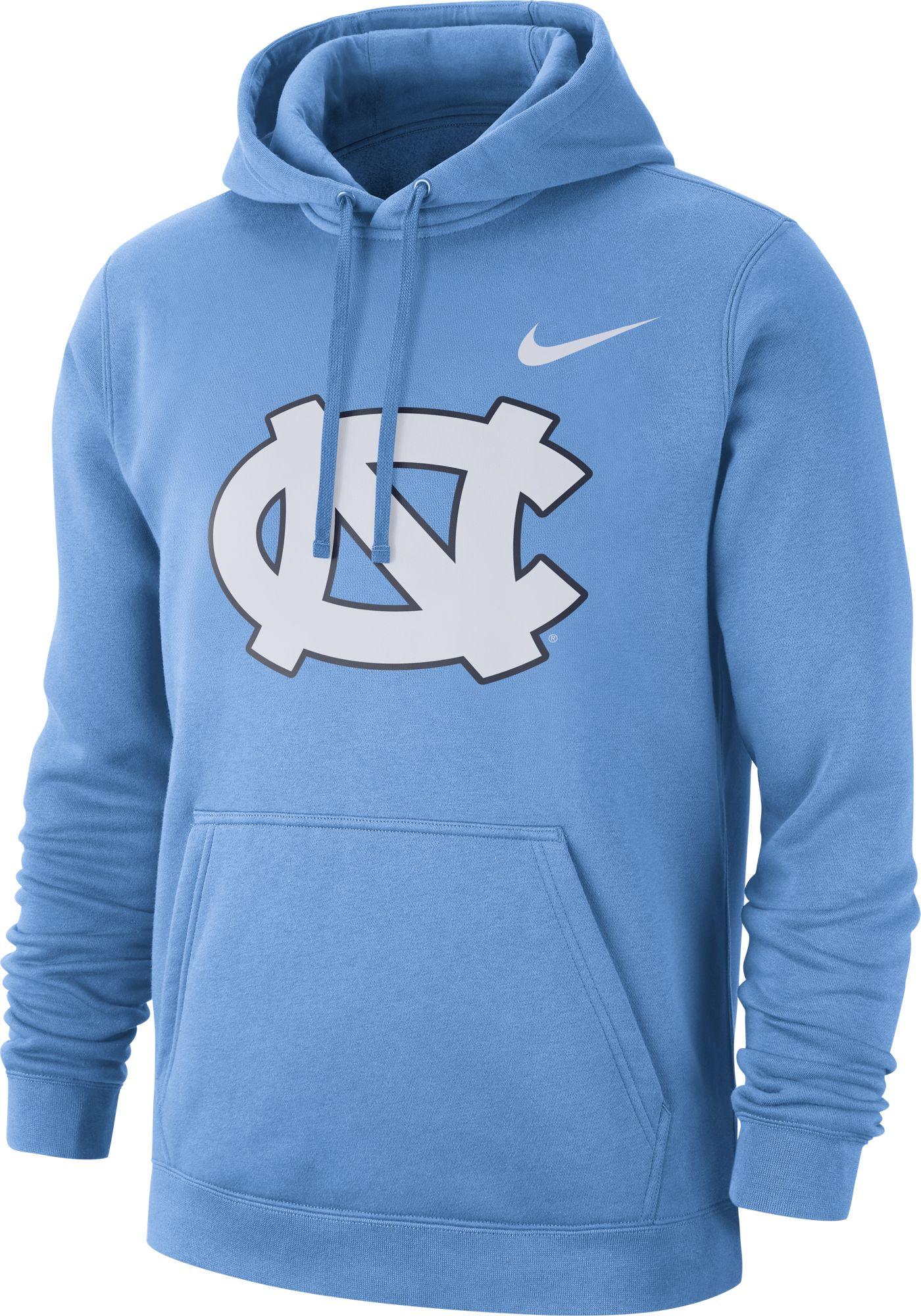 Nike Men's North Carolina Tar Heels Carolina Blue Club Fleece Pullover Hoodie