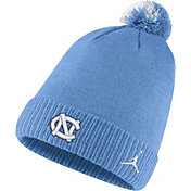 Jordan Men's North Carolina Tar Heels Carolina Blue Football Sideline Pom Beanie