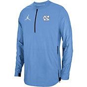 Jordan Men's North Carolina Tar Heels Carolina Blue Lockdown Football Quarter-Zip Jacket
