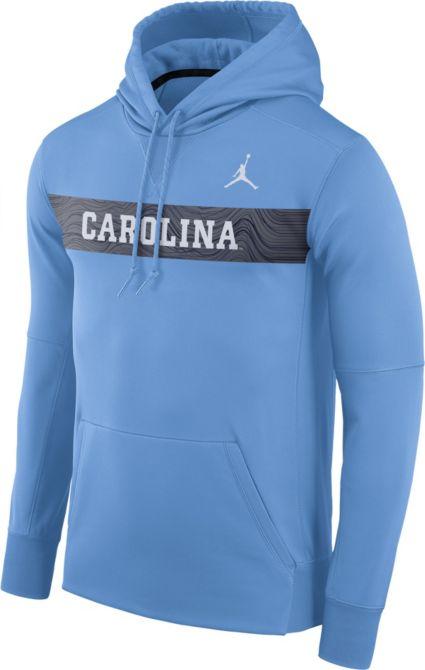 e436ee8cca5998 Jordan Men s North Carolina Tar Heels Carolina Blue Therma-FIT Pullover  Sideline Hoodie
