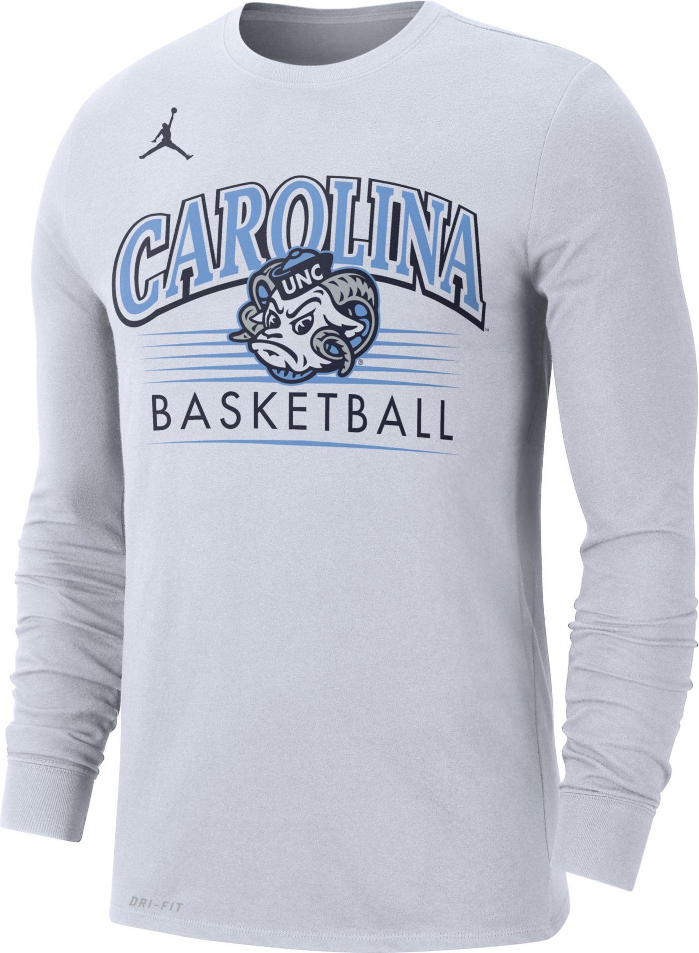 Jordan Men's North Carolina Tar Heels Dri-FIT Retro Long Sleeve Basketball White T-Shirt