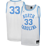 Jordan Men's North Carolina Tar Heels #33 Retro Replica Basketball White Jersey