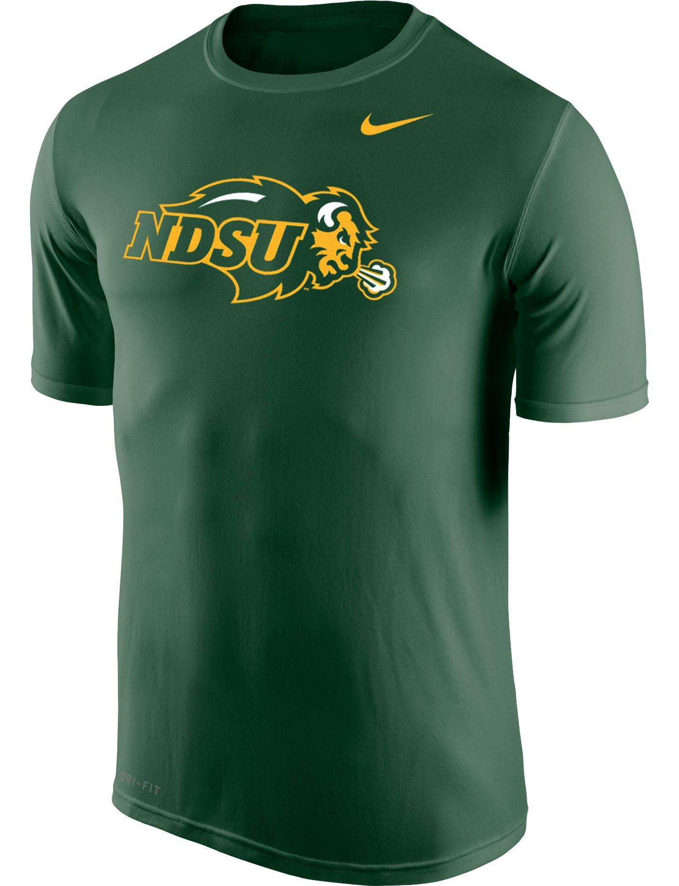 Nike Men's North Dakota State Bison Green Logo Legend T-Shirt