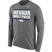 Nike Men's Nevada Wolf Pack Blue Legend Long Sleeve Shirt