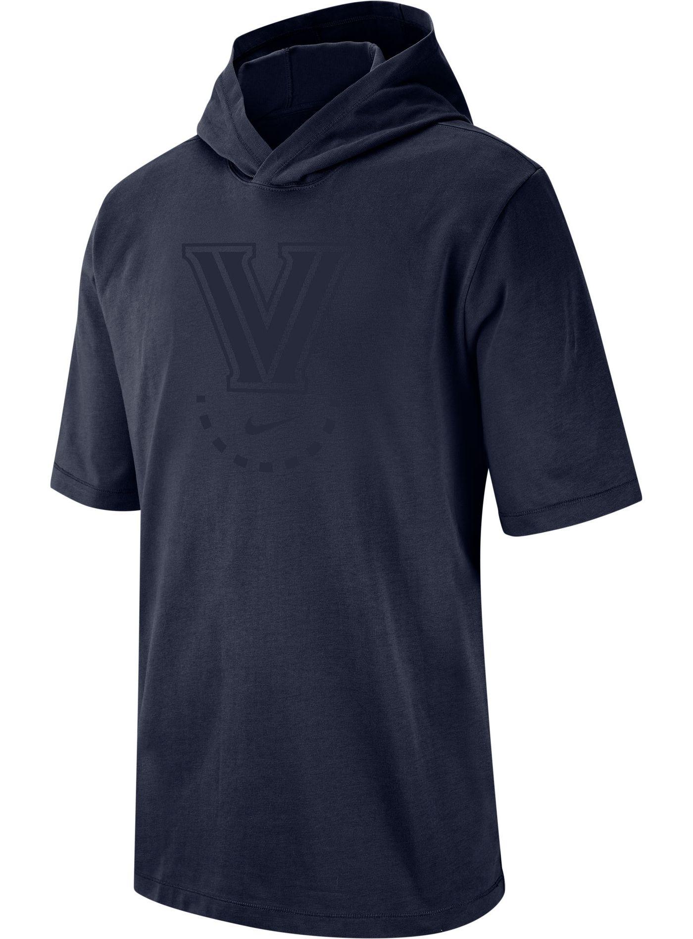 Nike Men's Villanova Wildcats Navy NRG Basketball Short Sleeve Pullover Hooded Shirt