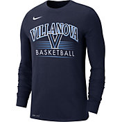 Nike Men's Villanova Wildcats Navy Dri-FIT Retro Long Sleeve Basketball T-Shirt