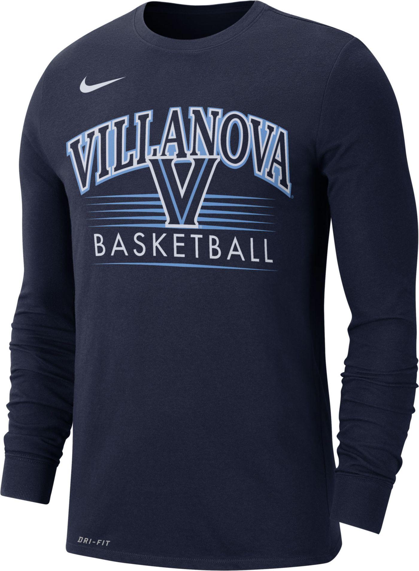 Nike Men's Villanova Wildcats Navy Dri-FIT Retro Long Sleeve Basketball T-Shirt