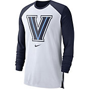 Nike Men's Villanova Wildcats White/Navy Breathe Long Sleeve Shirt
