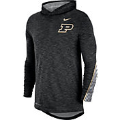 Nike Men's Purdue Boilermakers Cotton Long Sleeve Hoodie Black T-Shirt