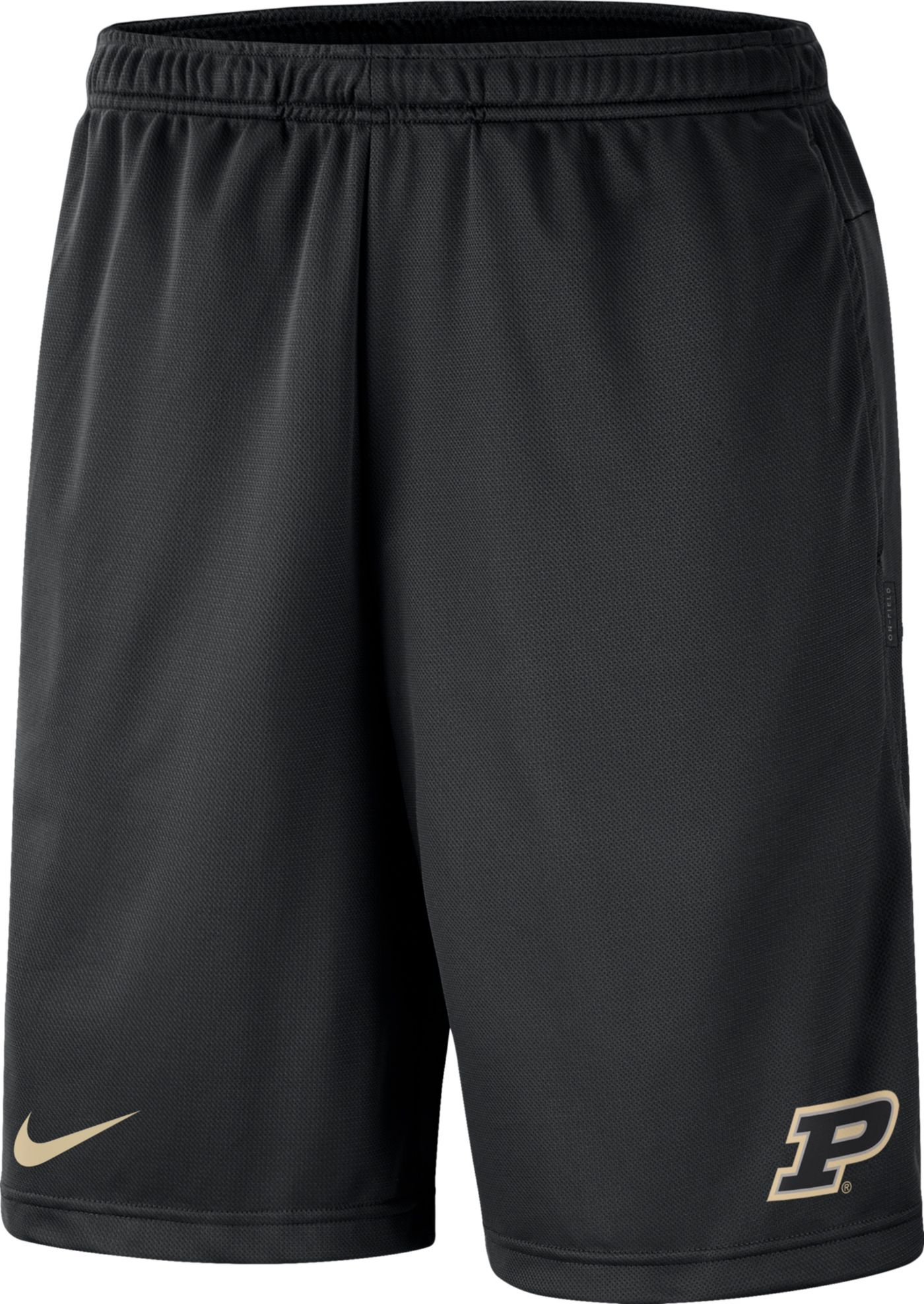 Nike Men's Purdue Boilermakers Dri-FIT Coach Black Shorts
