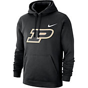 Nike Men's Purdue Boilermakers Club Fleece Pullover Black Hoodie