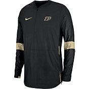 Nike Men's Purdue Boilermakers Lockdown Half-Zip Football Black Jacket