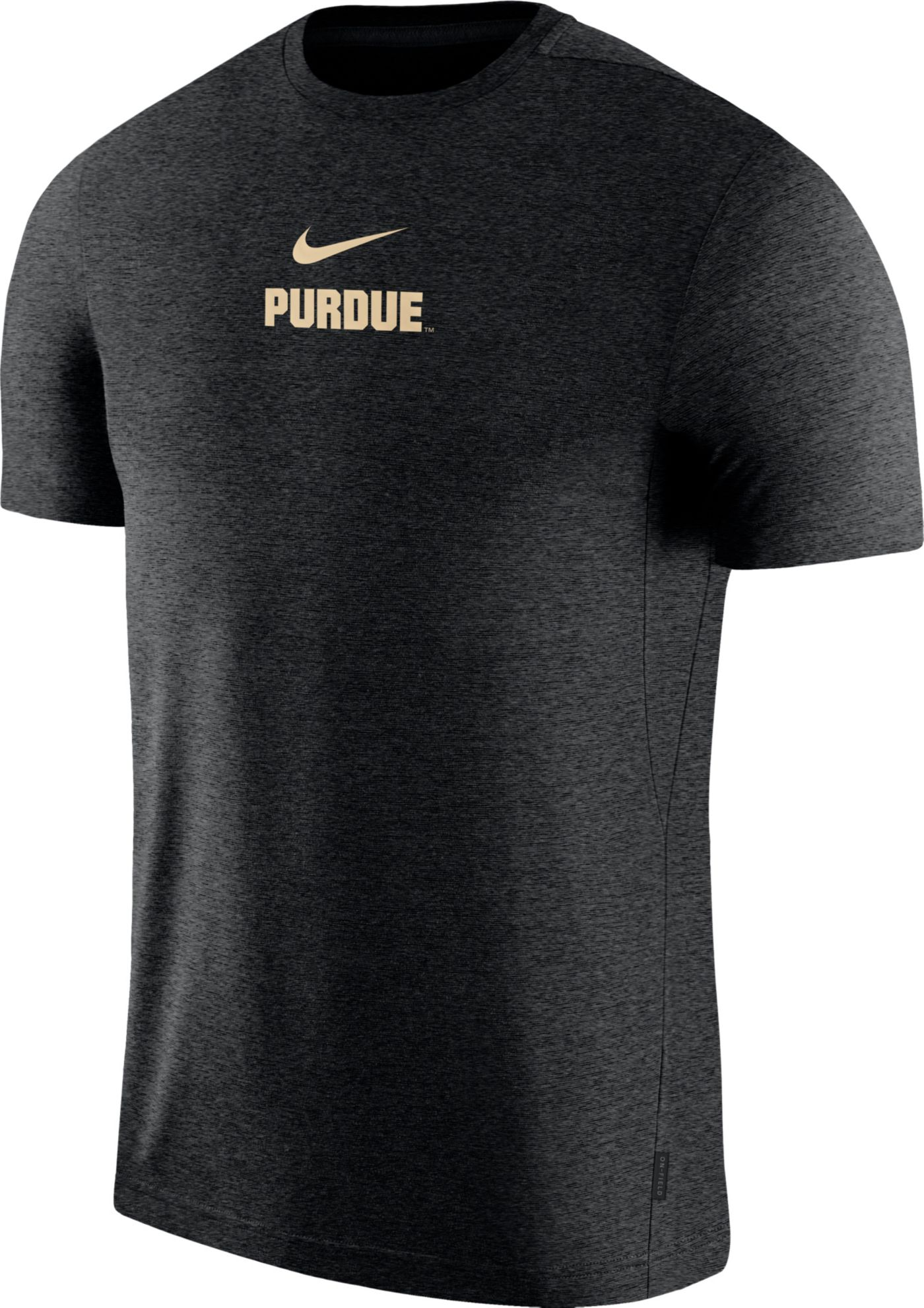 Nike Men's Purdue Boilermakers Dri-FIT Coach UV Football Black T-Shirt