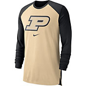 Nike Men's Purdue Boilermakers Old Gold/Black Breathe Long Sleeve Shirt