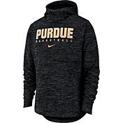Nike Men's Purdue Boilermakers Black Heathered Dri-FIT Spotlight Pullover Hoodie