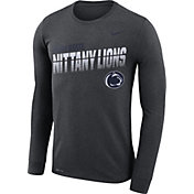 Nike Men's Penn State Nittany Lions Grey Legend Football Sideline Long Sleeve T-Shirt
