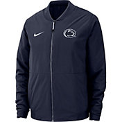 Nike Men's Penn State Nittany Lions Blue Bomber Full-Zip Jacket