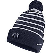 Nike Men's Penn State Nittany Lions Blue Football Sideline Cuffed Pom Beanie