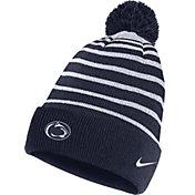 Nike Men's Penn State Nittany Lions Blue Football Sideline Cuffed Pom Beanie