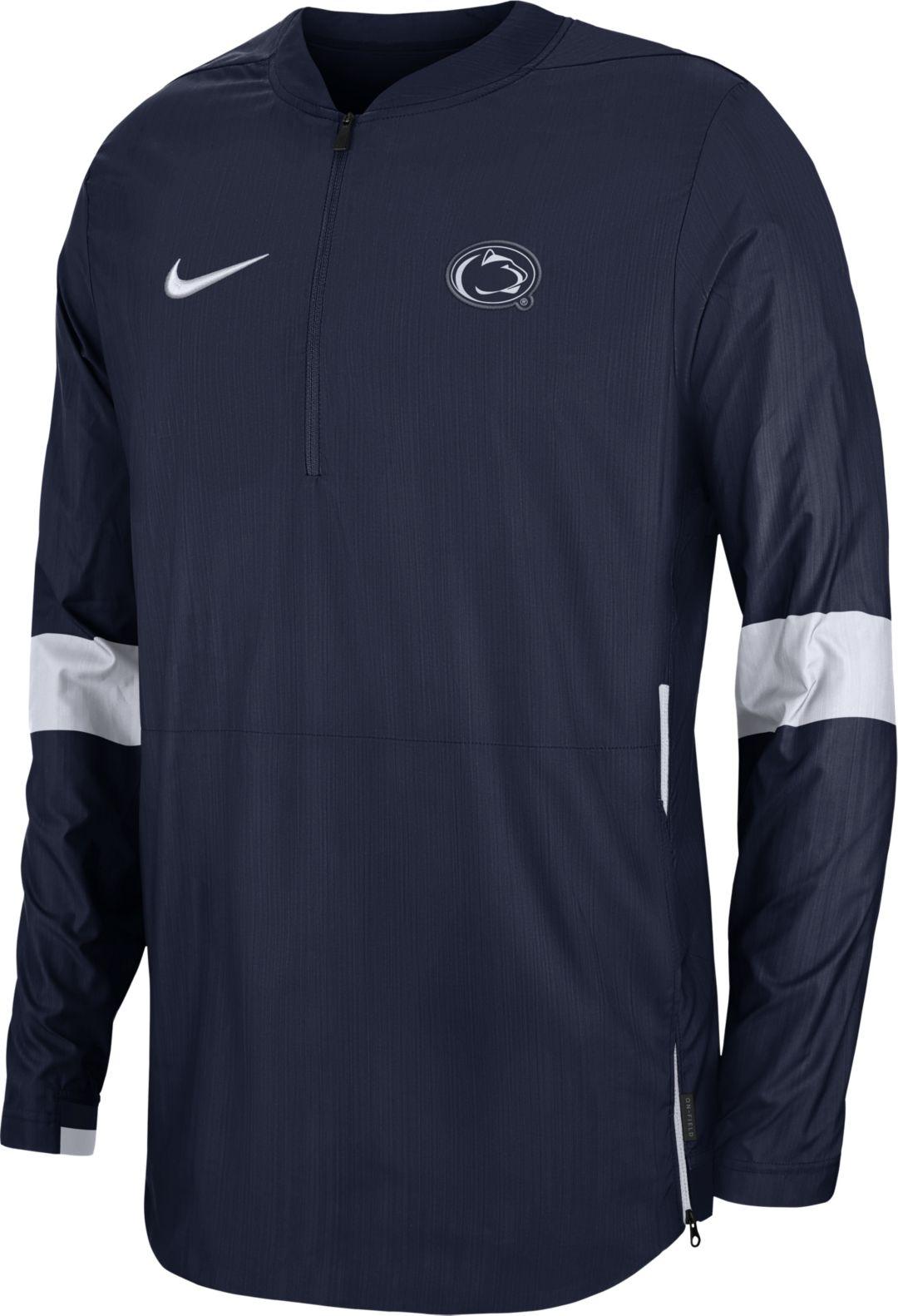 low priced 3b44b 7aefe Nike Men's Penn State Nittany Lions Blue Lockdown Half-Zip Football Jacket