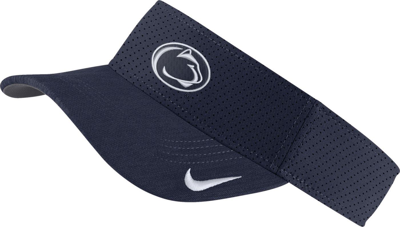 Nike Men's Penn State Nittany Lions Blue AeroBill Football Sideline Visor