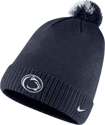Nike Men s Penn State Nittany Lions Blue Football Sideline Pom Beanie.  noImageFound edd83fea72b