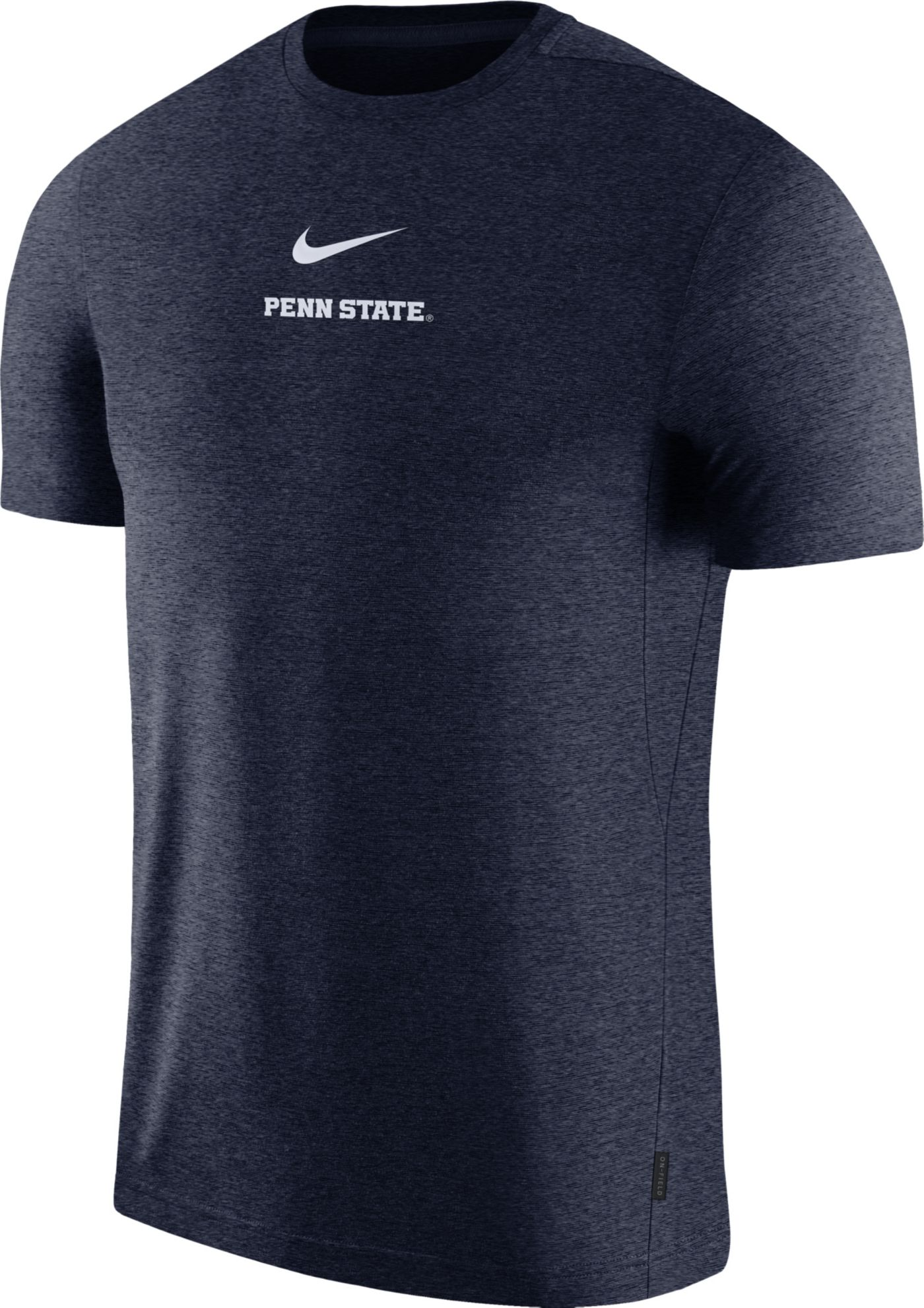 Nike Men's Penn State Nittany Lions Blue Dri-FIT Coach UV Football T-Shirt