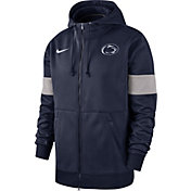 Nike Men's Penn State Nittany Lions Blue Therma Football Sideline Full-Zip Hoodie