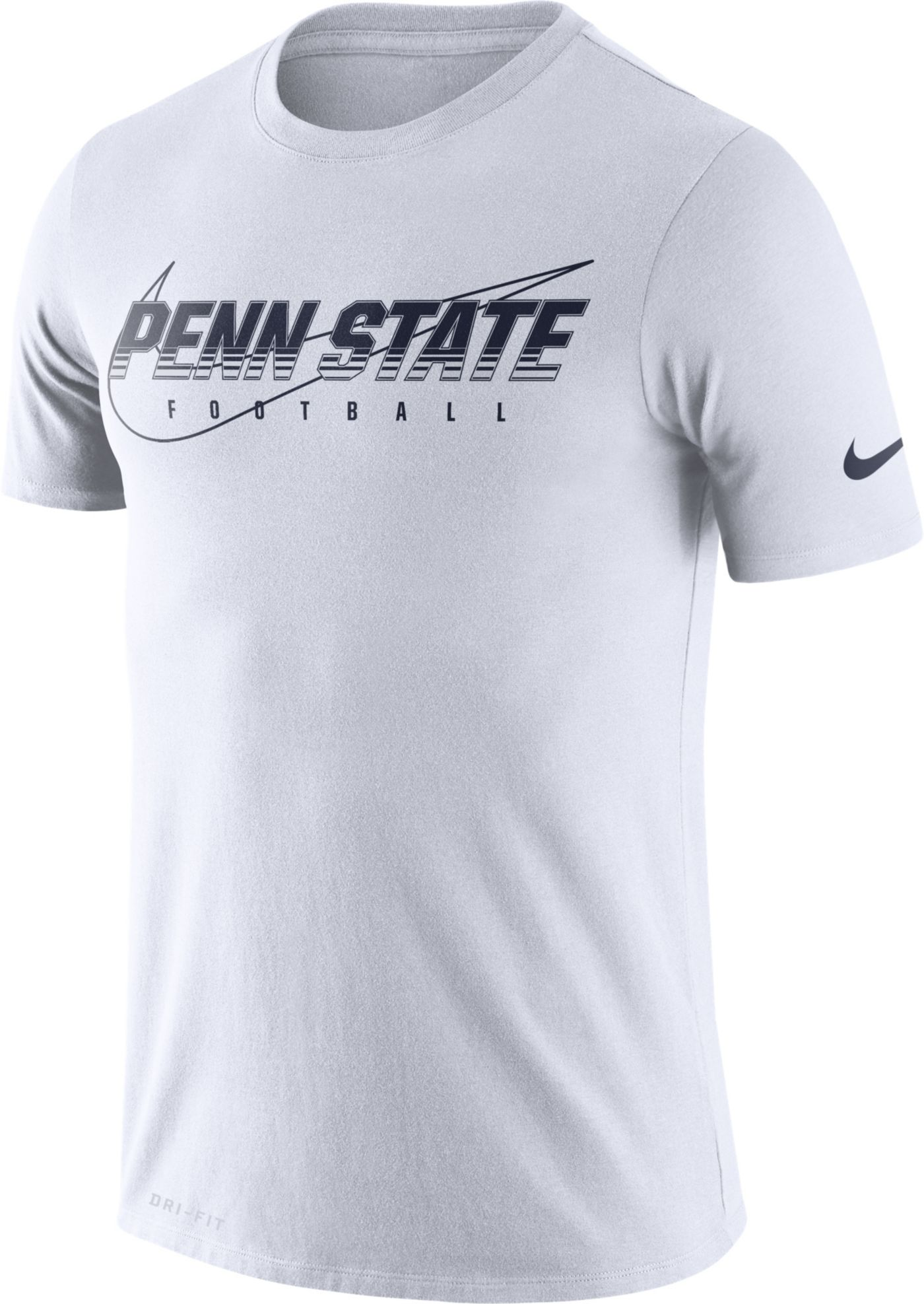 Nike Men's Penn State Nittany Lions Football Dri-FIT Cotton Facility White T-Shirt