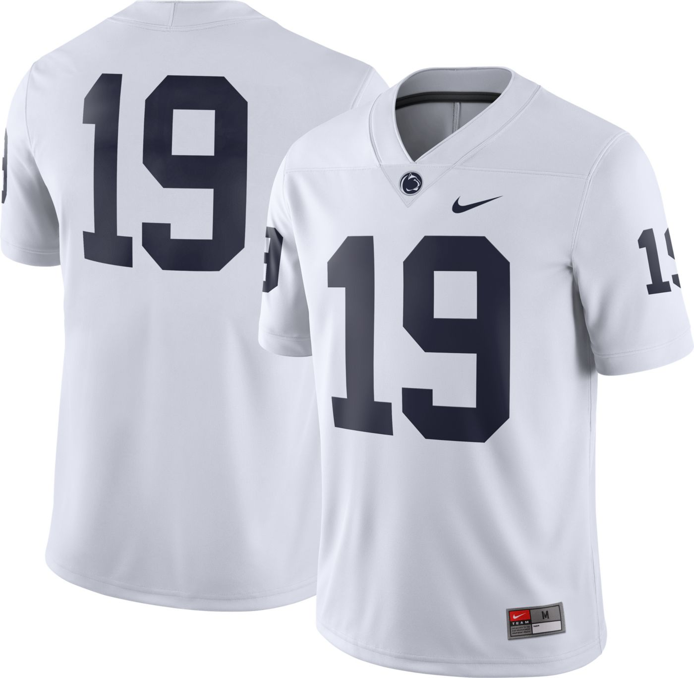 Nike Men's Penn State Nittany Lions #19 Dri-FIT Game Football White Jersey