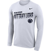 Nike Men's Penn State Nittany Lions Legend Football Sideline Long Sleeve White T-Shirt