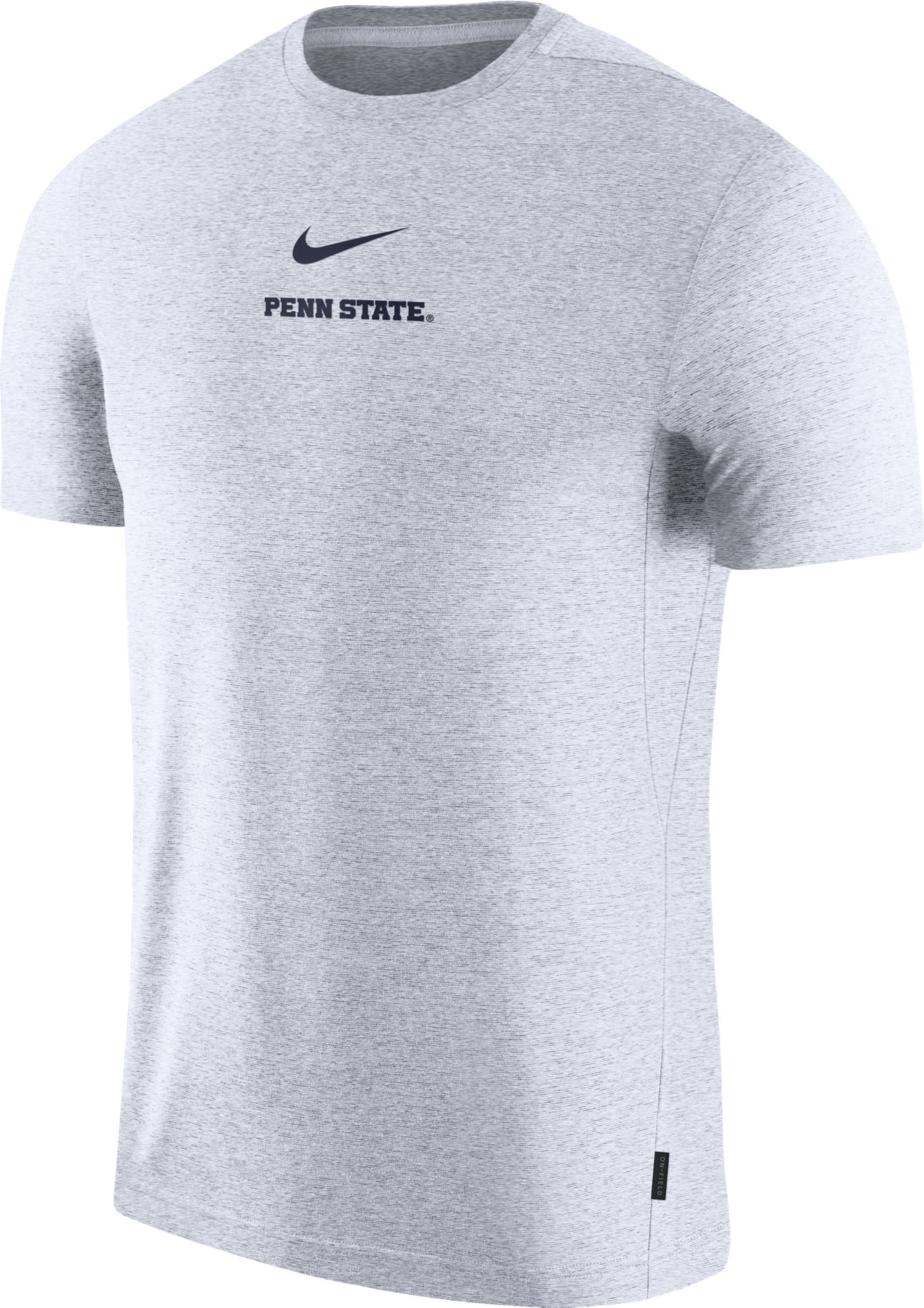 Nike Men's Penn State Nittany Lions Dri-FIT Coach UV Football White T-Shirt