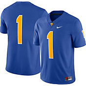 Nike Men's Pitt Panthers #1 Blue Dri-FIT Game Football Jersey