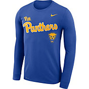 Nike Men's Pitt Panthers Blue Legend Football Sideline Long Sleeve T-Shirt