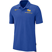 Nike Men's Pitt Panthers Blue Dri-FIT Elite Football Sideline Polo